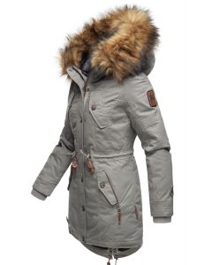 Dame vinterjakke med pels - New La Viva 19 Lys Grå