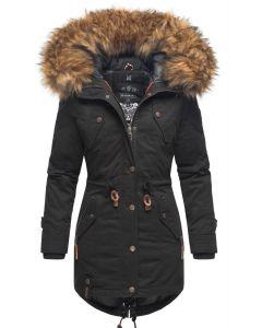 Dame vinterjakke med pels - New La Viva 19 Sort