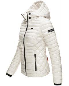 Dame let dun jakke Navahoo Samtphote i Off White
