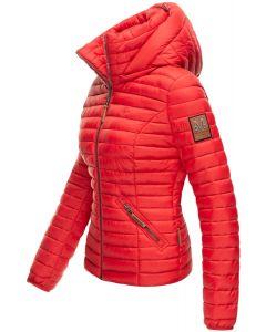 Dame jakke med hætte Baby Rød