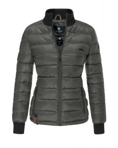 Flot kort dyne jakke Fiona - Mørkegrå
