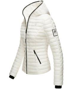 Dame dyne jakke med hætte Navahoo Kimuk Prinsess i Hvid