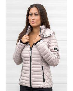 Dame let dun jakke Navahoo Samtphote i Lys Grå