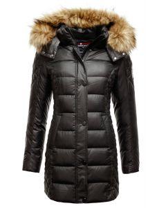 Dame dun vinterjakke - Verona Faux Fur