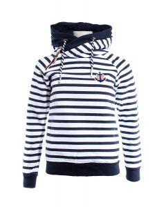 Sweatshirt / hættetrøje Kelly Navy / Hvid