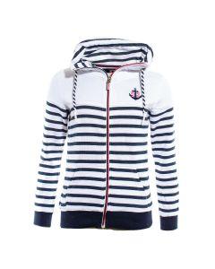 Sweatshirt Louis Hvid / Navy
