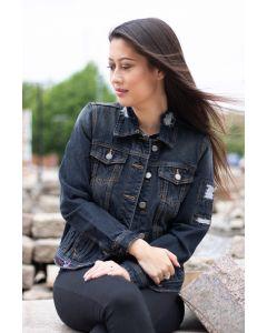 Flot jeans jakke i Sort