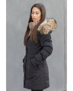 Dame Vinterjakke model Tropea med pels