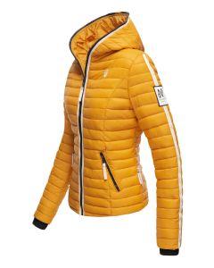Dame dyne jakke med hætte Kimuk Prinsess i Gul