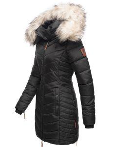 Dame Vinter dyne jakke med pels Nimala - Sort