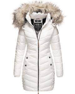 Dame Vinter dyne jakke med pels Nimala - Hvid