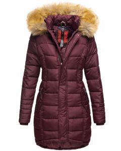 Dame Vinter dun jakke Papaya - Wine