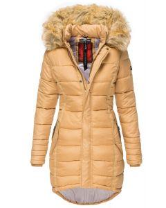 Dame Vinter dun jakke Papaya - Camel