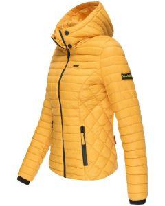 Dame let dun jakke Navahoo Samtphote i Gul