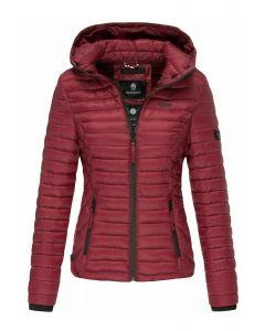 Dame let dun jakke Navahoo Samtphote i Bordeaux