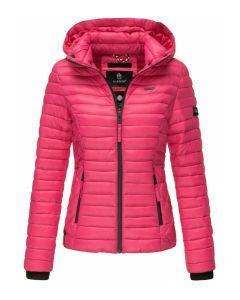 Dame let dun jakke Navahoo Samtphote i Pink