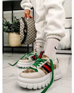 Sneakers Ginosa i Beige