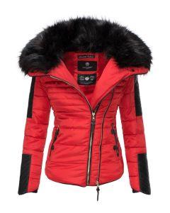 Dame vinterjakke kort Yuki - Rød