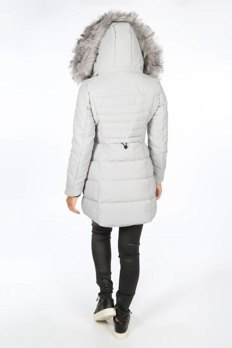 Alaska vinter jakke i Grå med mega pels