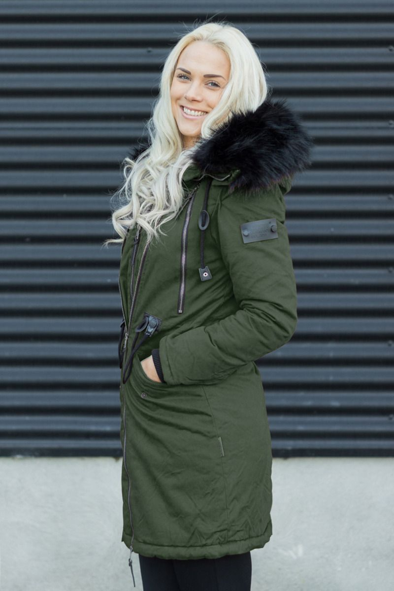 Lang Dame Frakke Leona Grøn