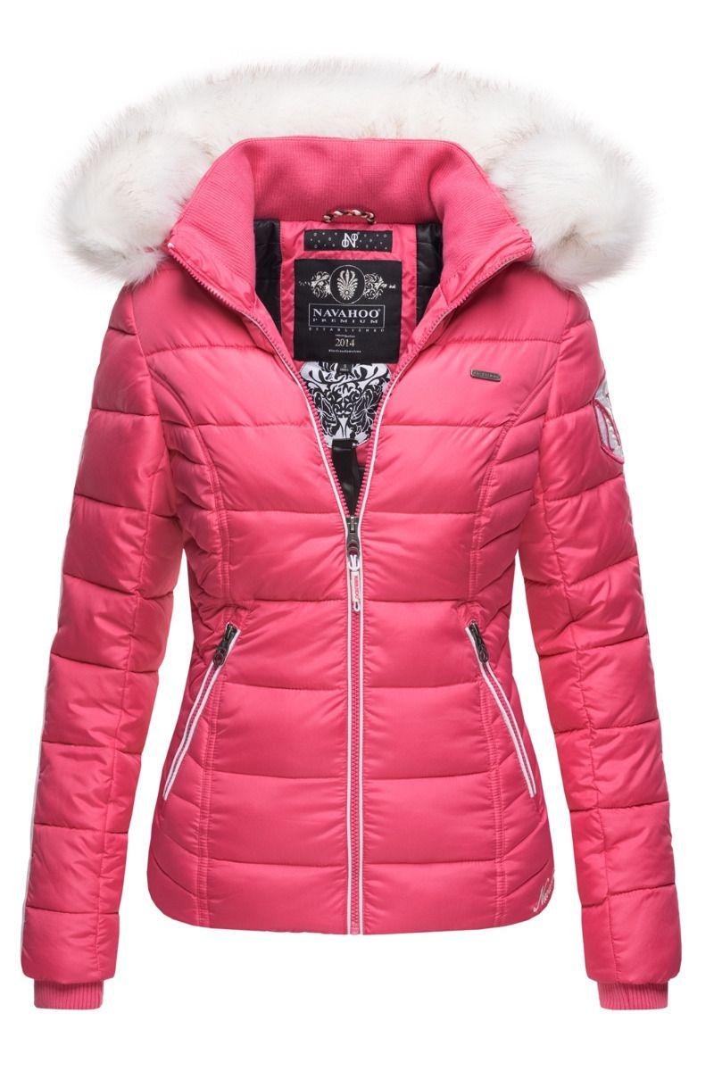 Dame vinterjakke med pels Kingaas Pink