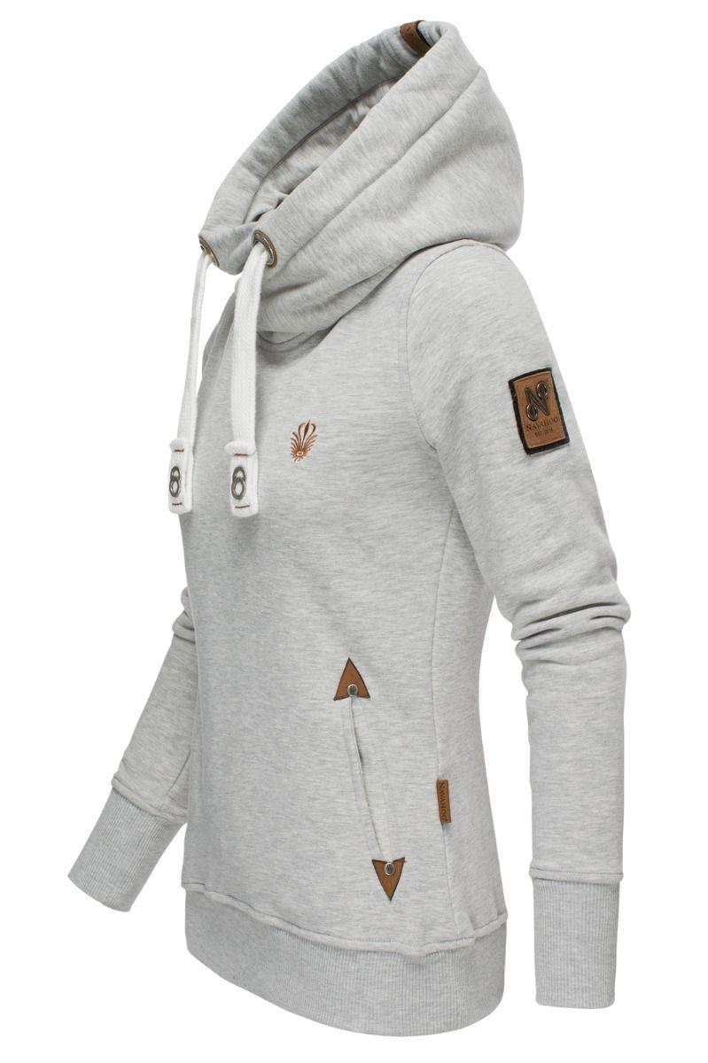 Dame Lux sweatshirt hættetrøje Namikaa Grå