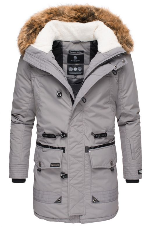 Herre vinter jakke Ansaya Grå