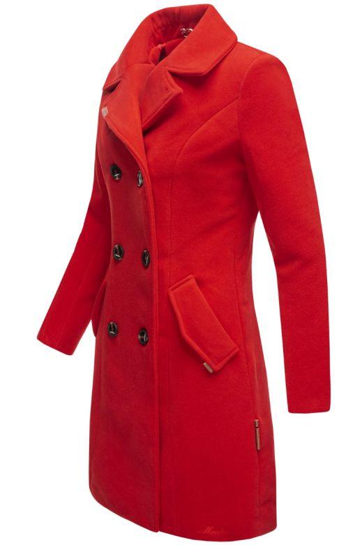 Dame vinter Frakke Nanako - Rød
