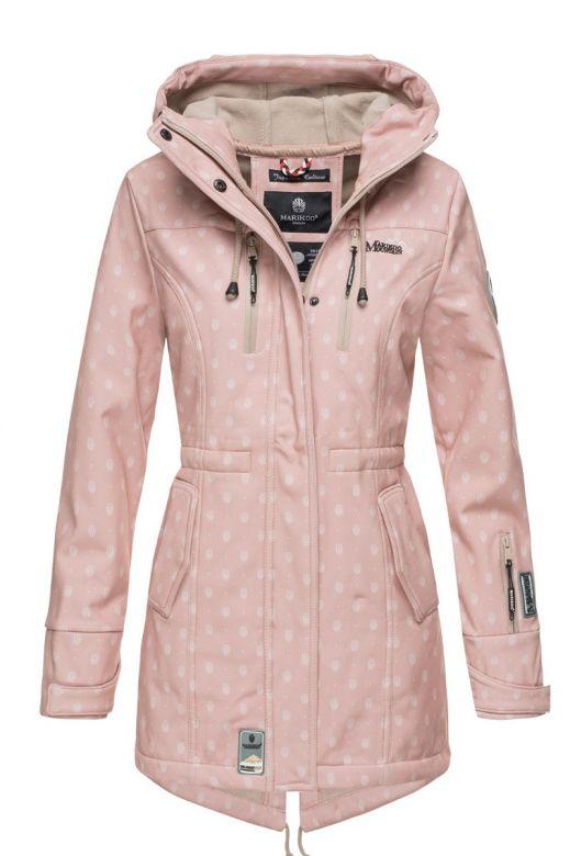Flot Softshell outdoor jakke i Rosa Dot
