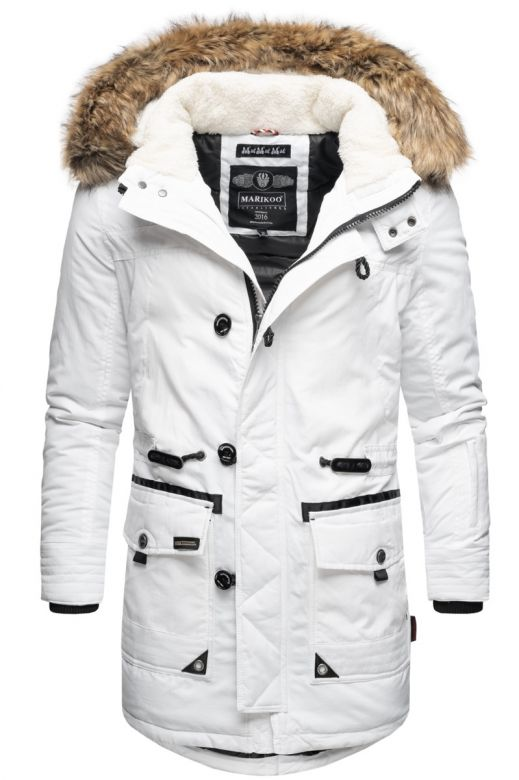 Herre Vinterjakke model Ansaya - Hvid