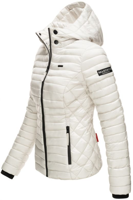 Sara let dun jakke i Off White