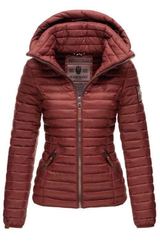 Dame jakke med hætte Baby Bordeaux