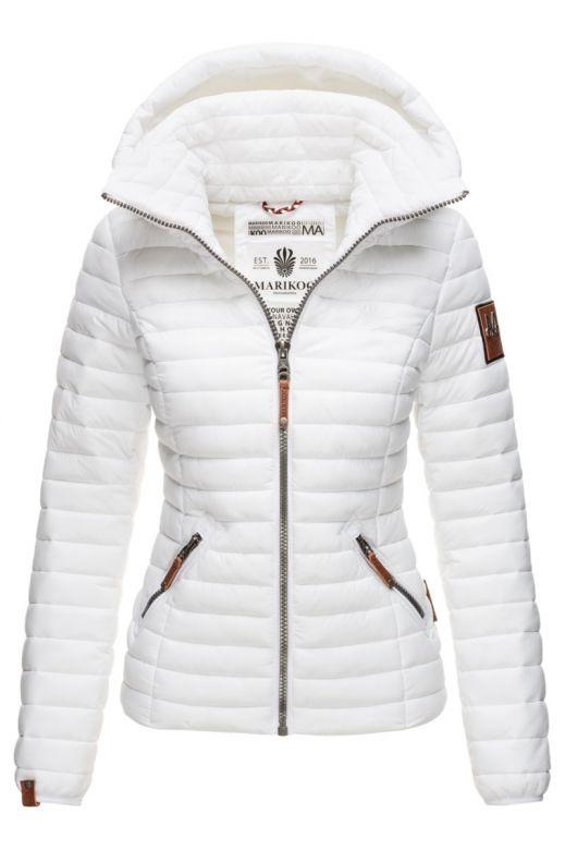 Dame jakke med hætte Baby Hvid