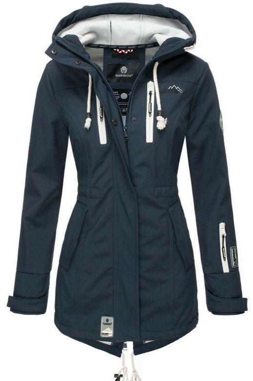 Flot Softshell outdoor jakke i Navy Blå