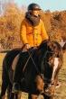 Kort Dame Vinterjakke med pels Yuna - Gul