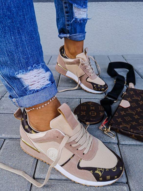 Sneakers LW Lugano i Lys Beige / Beige